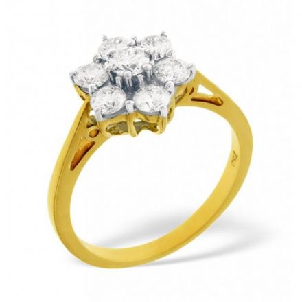 18K Gold 0.50ct H/si Diamond Ring, DR08-50HSY